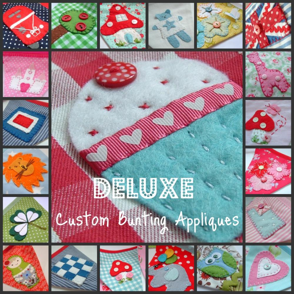 Personalized Bunting Little Extra's - DELUXE HAND APPLIQUES - They're Oh so Pretty and Fun